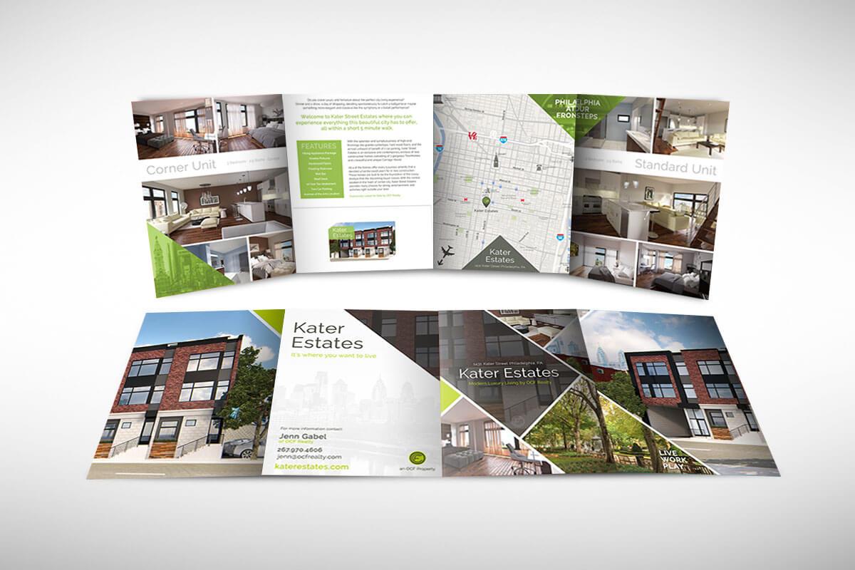 Four Panel Folder Real Estate Brochure